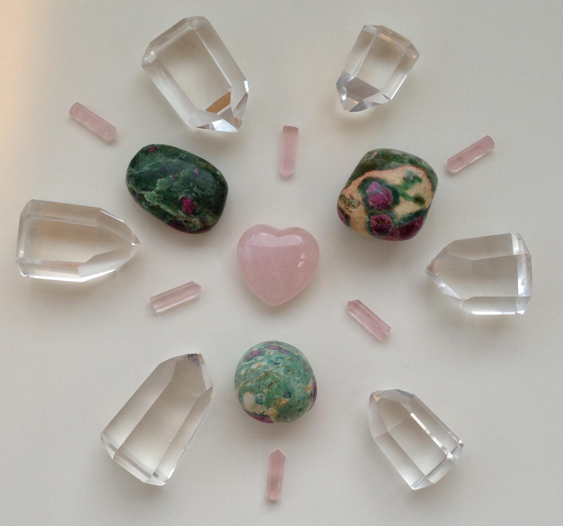 ум и сердце 2 Доверие и принятие, ум и сердце, розовые и зеленые камни