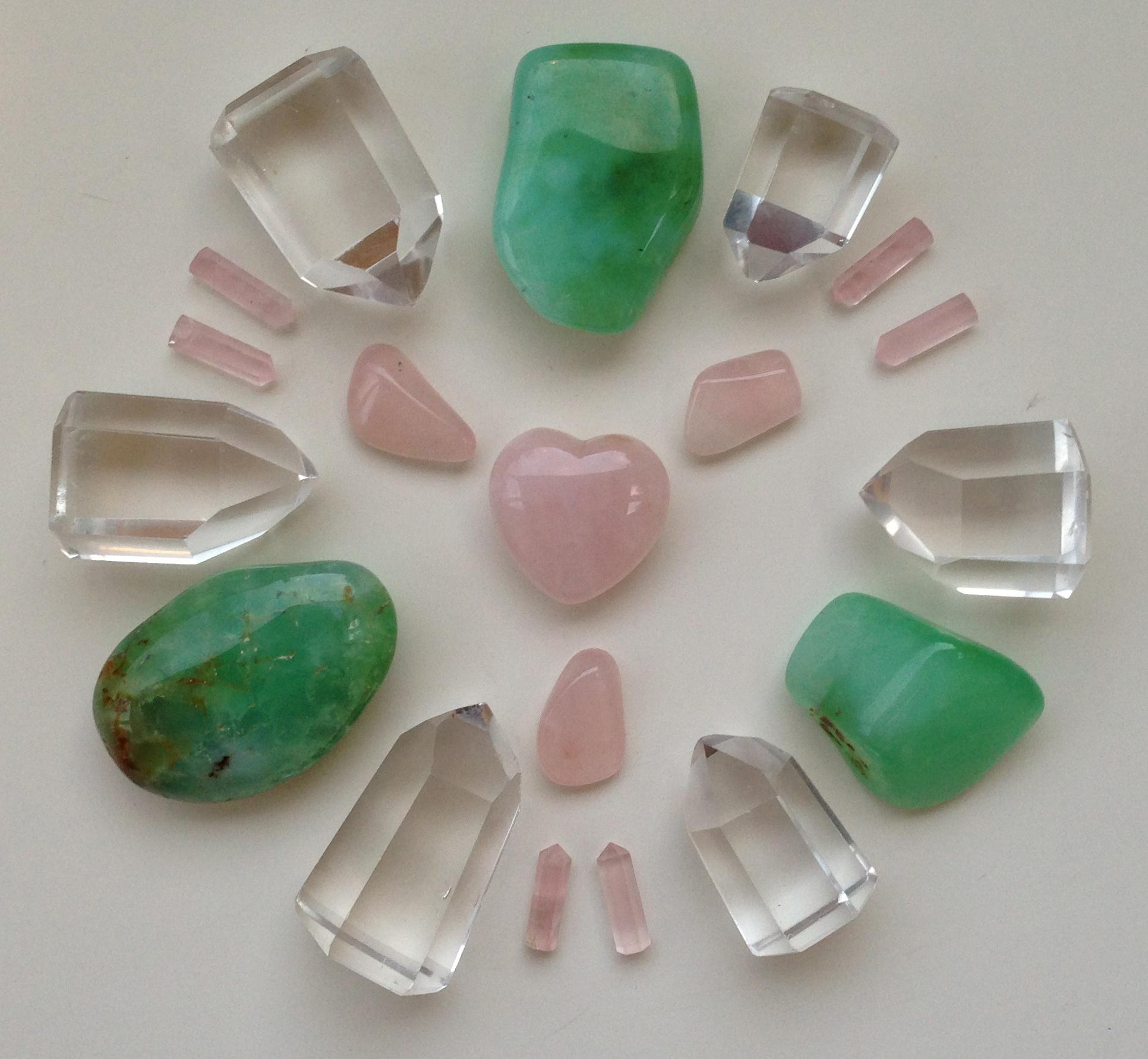 ум и сердце 7 Доверие и принятие, ум и сердце, розовые и зеленые камни